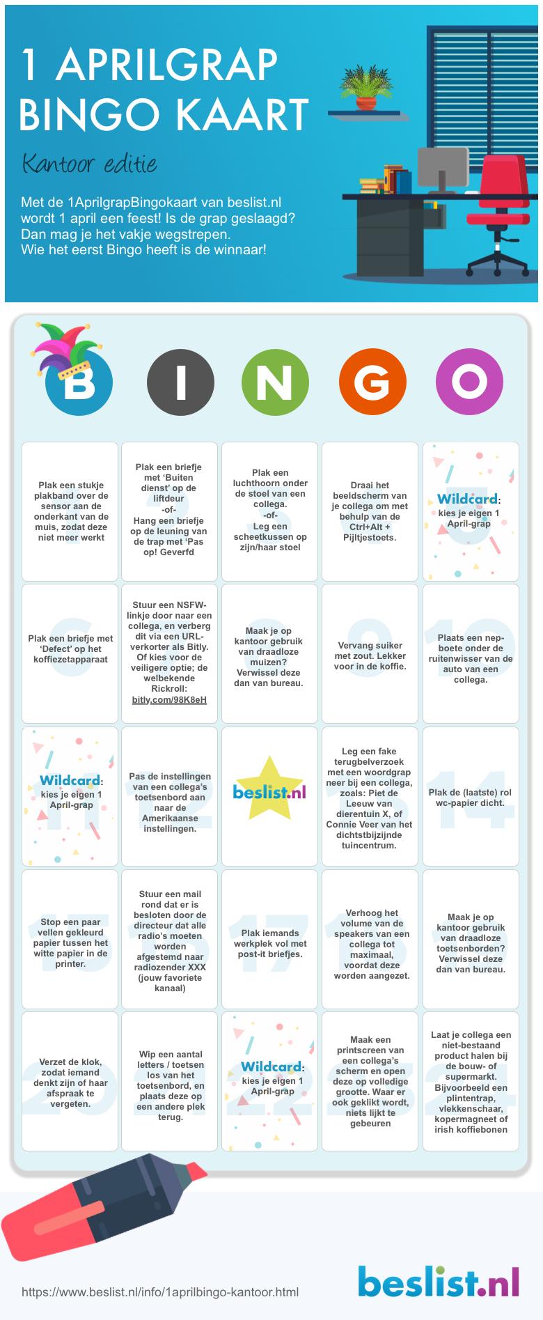 Infographic 1 Aprilgrap Kantoor Bingo