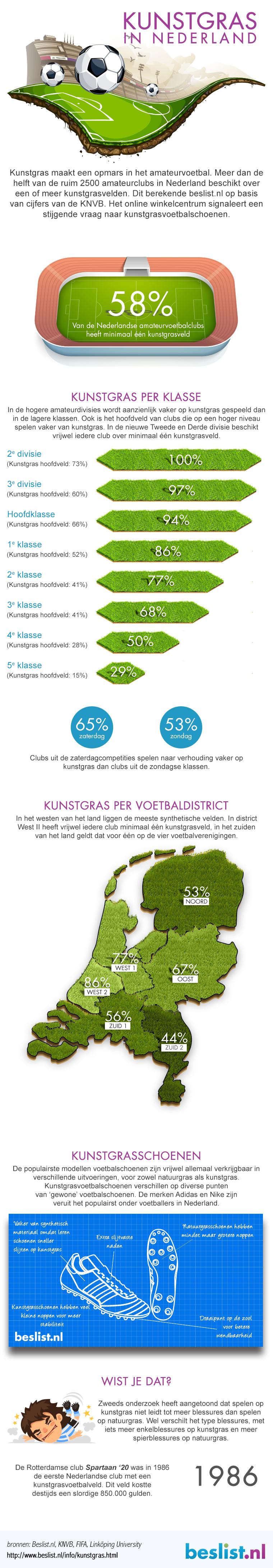 Infographic Kunstgras Nederland