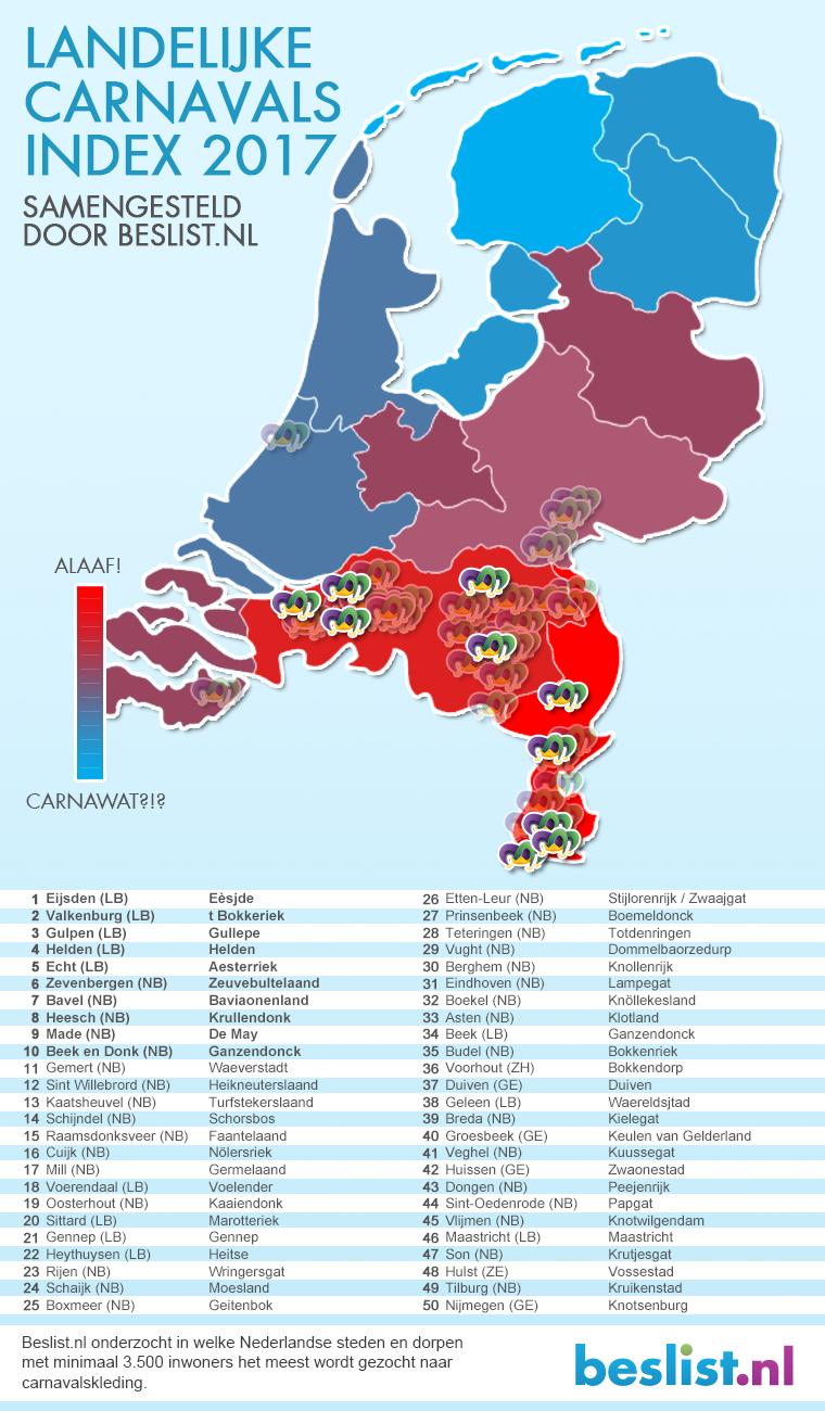 Infographic Carnavalsindex 2017