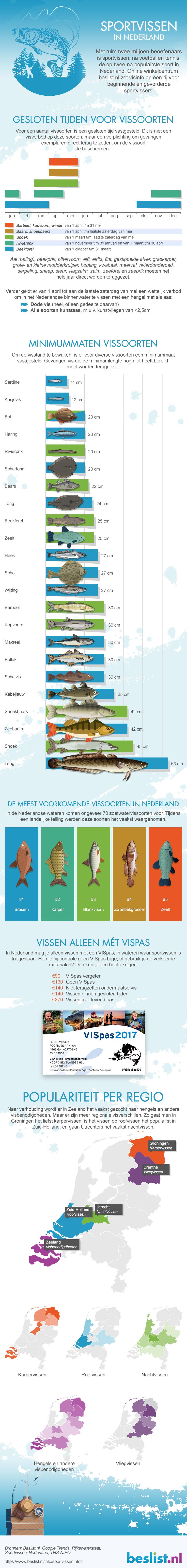 Infographic Sportvissen in Nederland